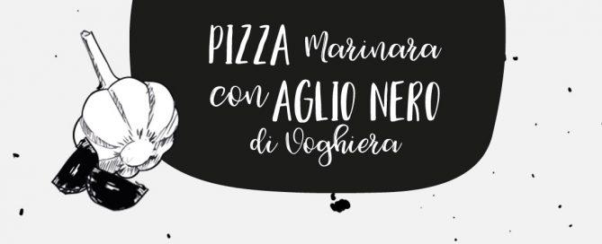 pizza marinara all'aglio nero di voghiera