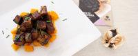 Cubetti di tofu con zucca e aglio Nero di Voghiera
