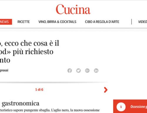 """[Parlano di noi…] Il Corriere """"Cucina"""""""