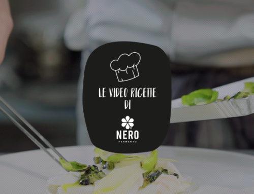 Millefoglie di baccalà al latte con cialda di Scalogno Nero di Romagna